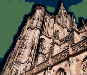image de superposition illustrant un monument de Strasbourg